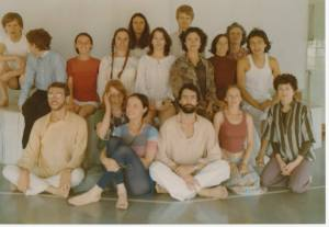 Several of my  teachers at the Iyengar Yoga Institute in San Francisco are in this photograph, including Judith Hanson Lasater, Melinda Perlee, and Toni Montez.